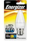 Energizer B22 Warm White Blister Pack LED Candle 5.9w
