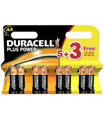 Duracell Plus Power Batteries pack 8 AA and AAA