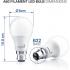 HYPERIKON A60 LED BULB 3000K 9W = 60W B22 BASE  LAMP BRIGHTNESS 820 LUMENS 4 PACK