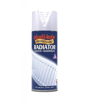 Plastikote Radiator Spray Paint Satin 400ml
