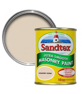 Sandtex Ultra Smooth Masonry Paint Microseal Technology 5 Litre Country Stone