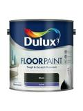 Dulux Floor Paint Satin Black Tough and Scratch Resistant Quick drying 2.5 Liter