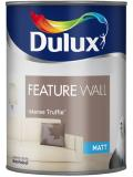 Dulux Paint Feature Wall Matt Emulsion 11 Colours Intense Truffle 1.25 Liter