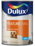 Dulux Paint Feature Wall Matt Emulsion 11 Colours Moroccan Flame 1.25 Liter
