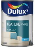 Dulux Paint Feature Wall Matt Emulsion 11 Colours Teal Tension 1.25 Liter