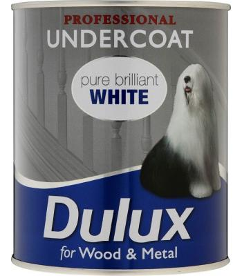 Dulux Professional Undercoat Pure Brilliant White for Wood and Metal 750 ml