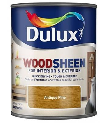 Dulux Wood Sheen Interior and Exterior Wood Stains and Varnish  Antique Pine 750ml