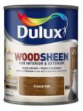 Dulux Wood Sheen Interior and Exterior Wood Stains and Varnish French Oak750ml