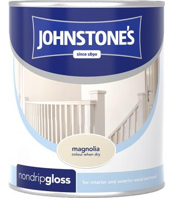 Johnstone's Non Drip Gloss Paint for Wood and Metal Magnolia 250 ml