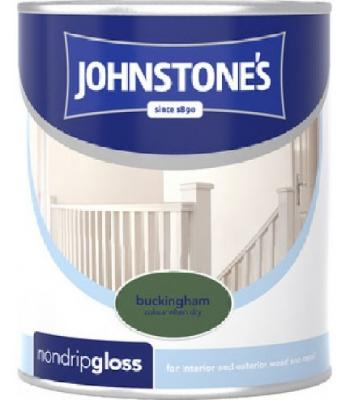 Johnstone's Non Drip Gloss Paint for Wood and Metal Buckingham  250 ml