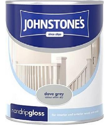 Johnstone's Non Drip Gloss Paint for Wood and Metal Dove Grey 250 ml