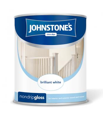 Johnstone's Non Drip Gloss Pure Brilliant White 750ml