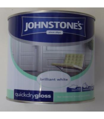 Johnstone's Quick Dry Gloss Pure Brilliant White750ml