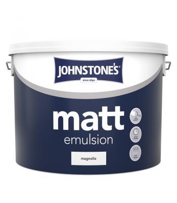 Johnstone's  Matt Emulsion 10 Litre Paint for Wall and Ceiling White / Magnolia