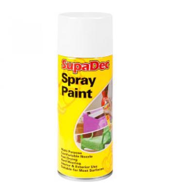 Supadec Multi-Purpose Spray Paint Matt 400ml white / Black