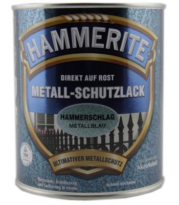 Hammerite metal paint Hammer Blue 750m Direct to Rust Hammerschlag Mettallblau