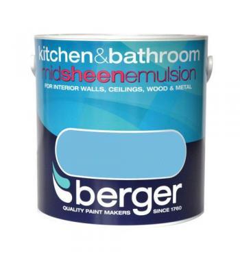 Kitchen & Bathroom Paint 2.5 Litre Berger all colours