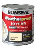 Ronseal Weatherproof 10 Year Exterior Wood Paint Gloss 750ml