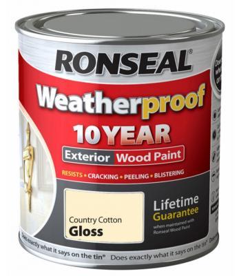 Ronseal Weatherproof 10 Year Exterior Wood Paint Gloss 750ml