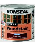 Ronseal 5 Year Wood Stain  Exterior Wood 750 ml Satin Finish