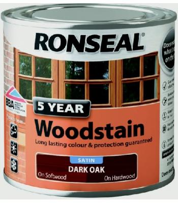 Ronseal 5 Year Wood Stain for Exterior Wood 250ml 11 COLOURS