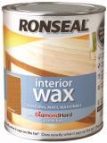 Ronseal Interior Wax Natural Matt with Hard Diamond protection 750 ml 8 Colours