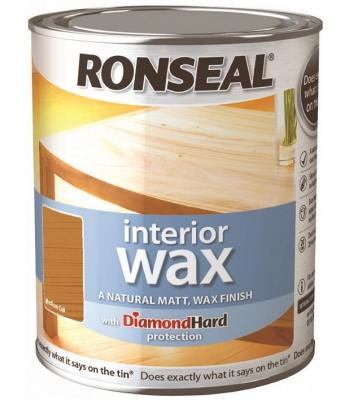 Ronseal Interior Wax Natural Matt with Hard Diamond protection 750 ml 8 Colours