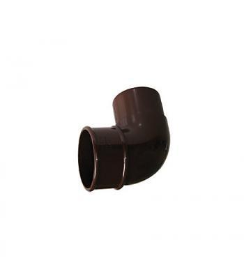 Down pipe off set bend black 68 mm half round system