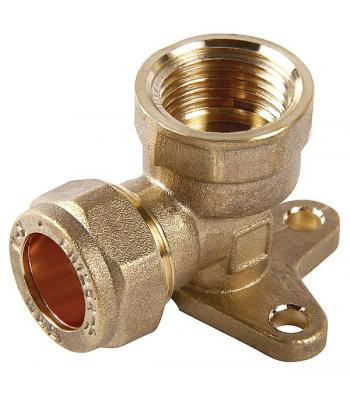 Compression Fitting Wall plate 15mm