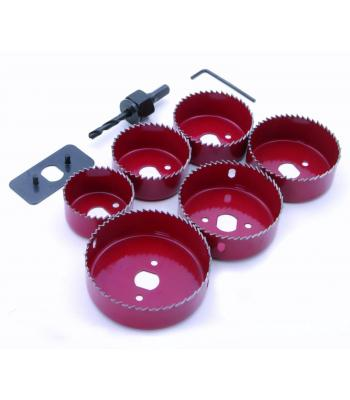 SupaDec Down Light Installation Kit Hole Saw 8 Pieces set 50 mm - 86 mm