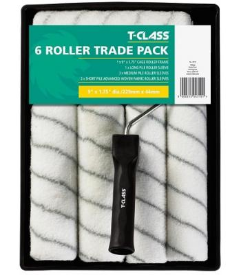 T Class Paint 6 Roller Trade Pack 9 x 1.75 inches  Dia 229 mm x 44 mm