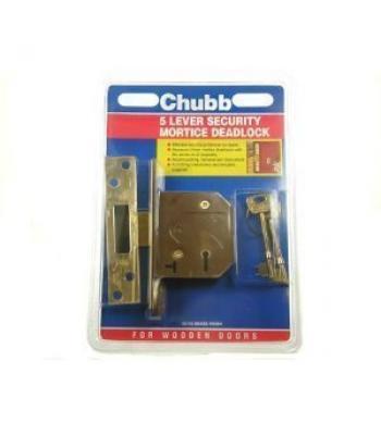 "Chubb 5 Lever Security Mortice Deadlock 2.5"""