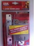 "Era Sashlock 202-31 Viscount 5 Lever 64 mm 2.1/2"" Mortice Door Lock Brass"