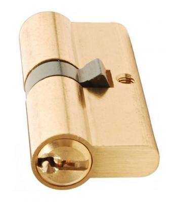 Euro Profile Cylinder Lock Solid Brass 70 mm 30 x10 x 30 mm Polished Brass
