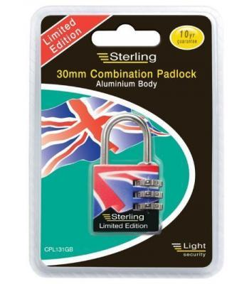Sterling 30mm Combination Padlock limited edition
