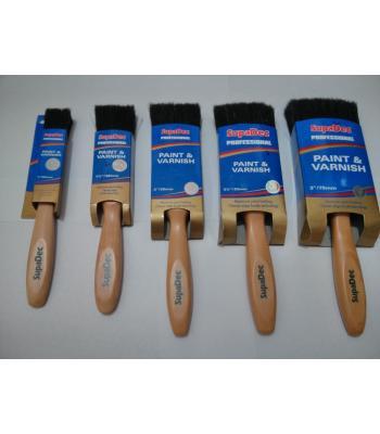 SupaDec Professional Paint and Varnish Brush Choise of 5 Brushes