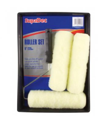 SupaDec Paint Roller set Set 9 Inches Extra two roller sleeves