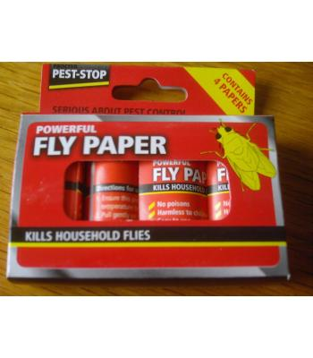 Pest-Stop Powerful Fly Paper 4 Pack