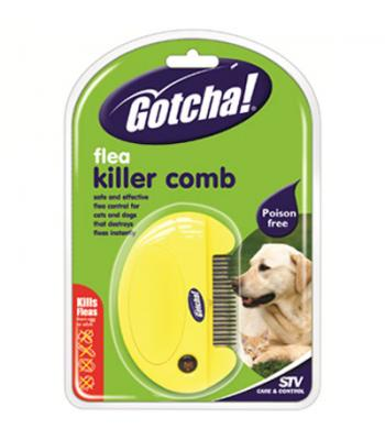 "STV Gotcha Flea Killer Comb + 2 Free ""AAA""Batteries"