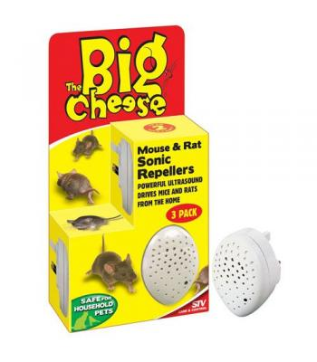 STV The Big Cheese Sonic  mouse Repellers 3 Pack