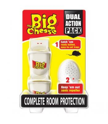 STV The Big Cheese Dual Action Pack Mouse repeller and trap