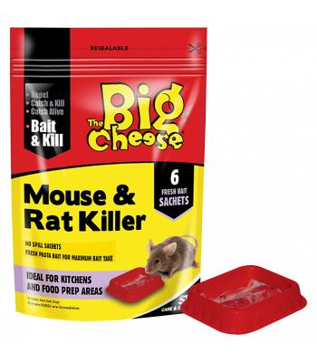 STV The Big Cheese Mouse & Rat Killer 6 Sachets