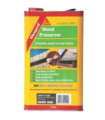 Sikagard Wood Preserver Dark Oak 5 Liter