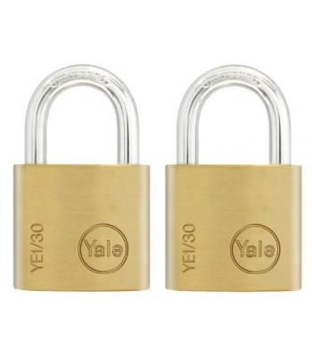 Yale Brass 30mm Padlocks x 2 key alike  P110/30/117/2